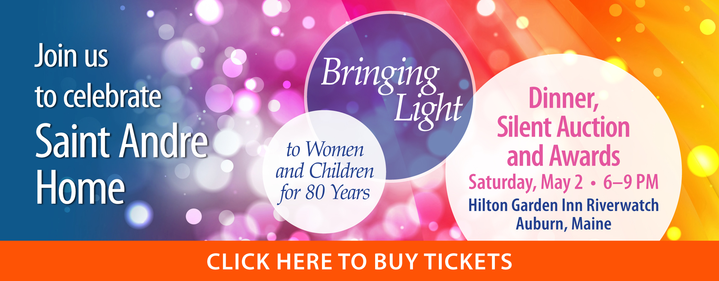 Dinner, Silent Auction, and Awards. Click Here to Buy Tickets.